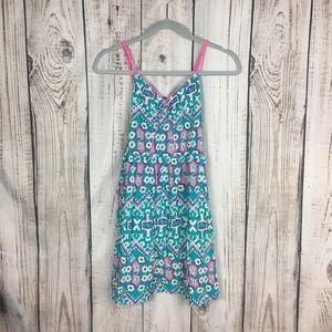 🌕4/$15🌕 Xhilaration Teal Floral Sleeveless Dress